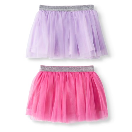 Garanimals Baby Girls' Glitter Waistband Tutus, 2-Piece (80's Fashion Tutu Skirts)