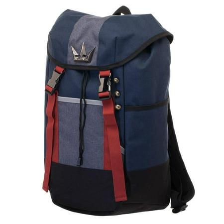 Kingdom Hearts Backpack - Navy Blue, Red, and Grey Gamer Backpack - Navy Backpacks