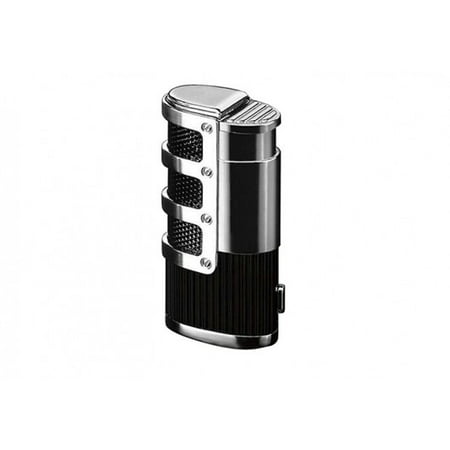 Supernova Triple Flame Torch Lighter w/ Retractable Punch Cutter & Mesh Accents -
