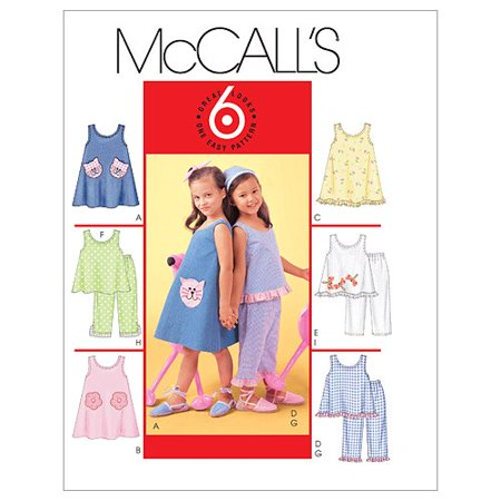 McCall's Patterns M4006 Children's and Girls' Dresses, Top and Pants, Size CCE (3-4-5-6), CCE (3-4-5-6) By McCalls Patterns From USA - Dresses From Grease