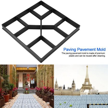 TOPINCN Paving Pavement Concrete Mould Stepping Stone Mold Garden Lawn Path Paver Walk ()
