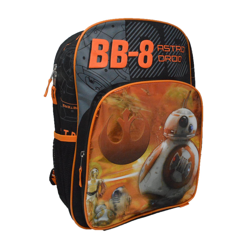 Image of Disney Star Wars Episode 7 BB-8 Astro Droid 16-inch Backpack Bag - Orange/Black