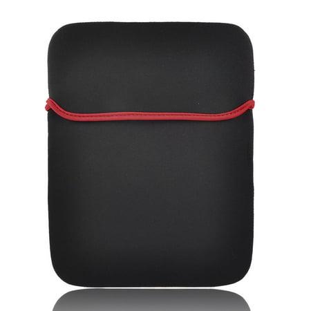 "Neoprene Red Black 13"" 13.2"" Laptop Notebook Portable Sleeve Bag Cover Case"