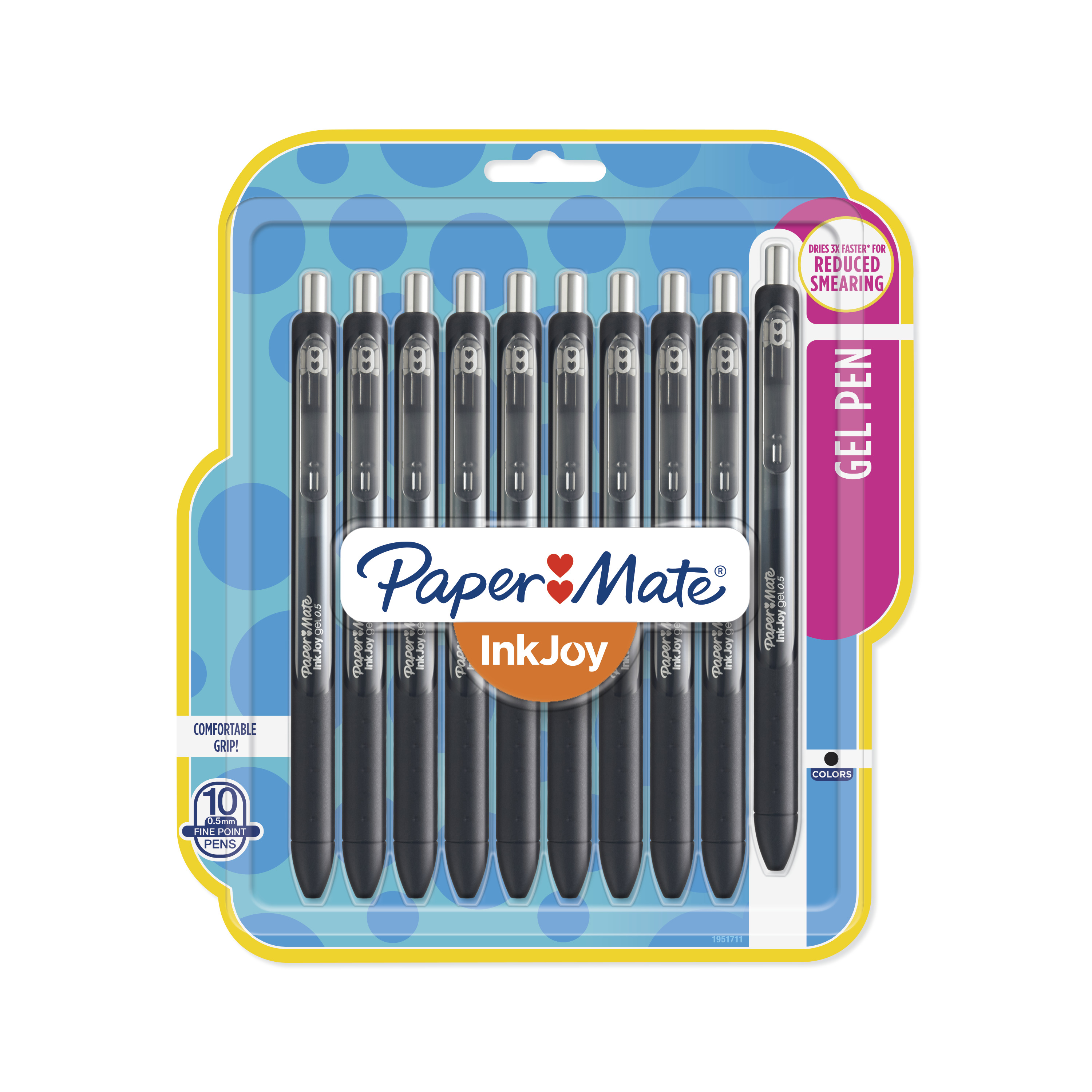 Paper Mate InkJoy Fine Point 0.5mm Gel Pens, 10 count