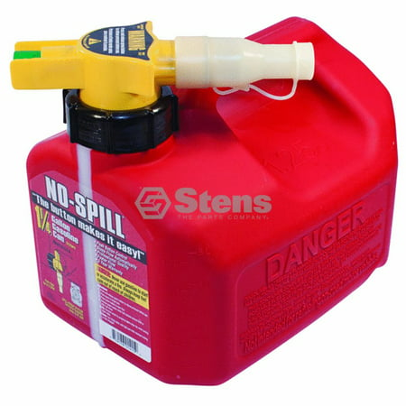 Genuine Stens 1 1/4 Gallon Fuel Can 01415 Part# 765-100 Replaces OEM Part For: No-Spill, Stihl, Toro