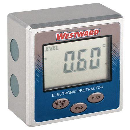 Westward Magnetic Digital Protractor, Machined Aluminum Frame, 2YNK6