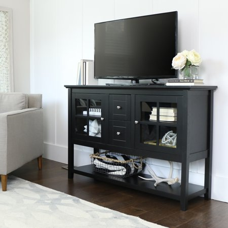 Wood Console Table TV Stand For TVs Up To 55 Multiple