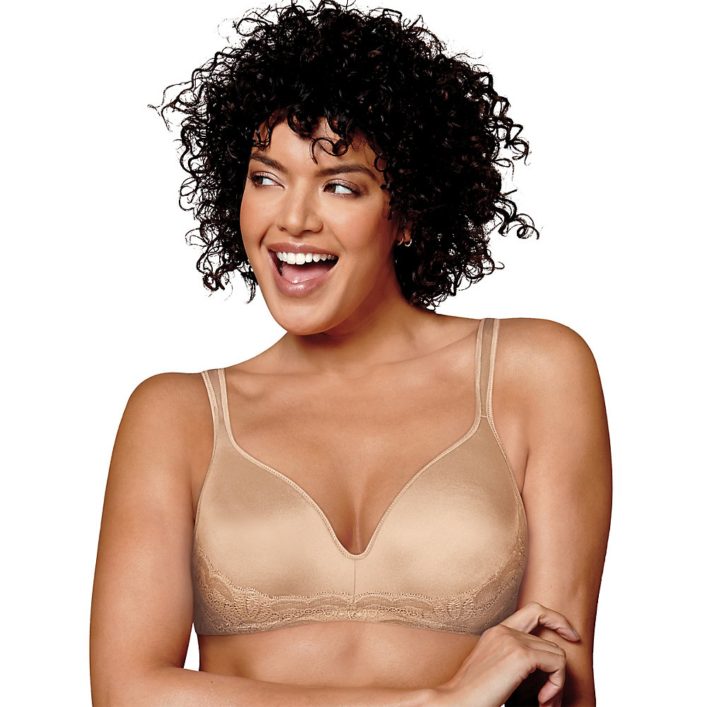 Playtex Love My Curves Side Smoothing Wirefree Bra. US0002 - image 1 de 1