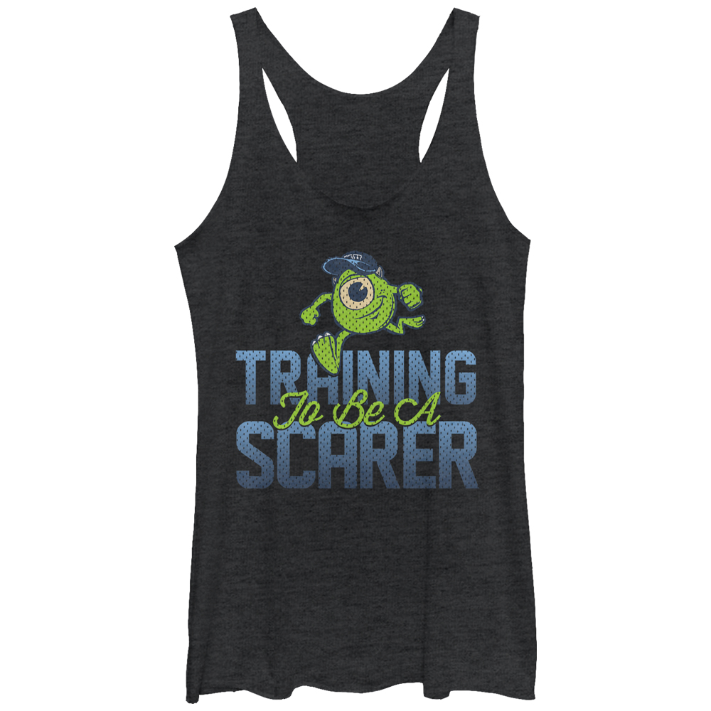 Monsters Inc Women's Training to be a Scarer Racerback Tank Top