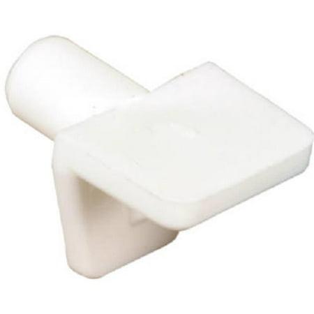 243390 12 Pack, White Plastic Mini Shelf Support Peg