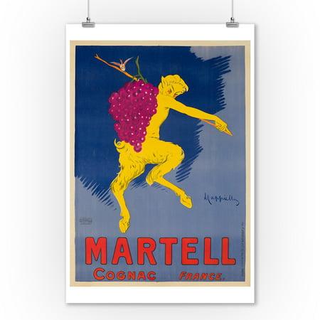 Martell Vsop Cognac - Martell Cognac Vintage Poster (artist: Cappiello, Leonetto) France c. 1905 (9x12 Art Print, Wall Decor Travel Poster)