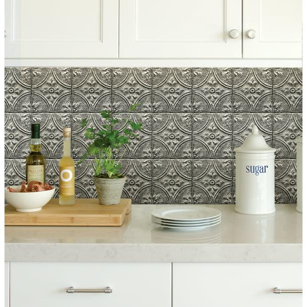 Silver L Stick Backsplash Tiles