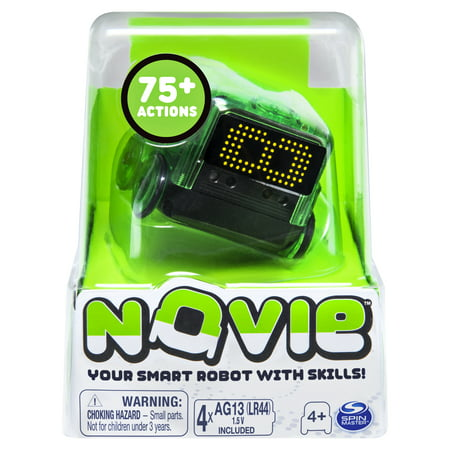 Novie, Interactive Smart Robot with Over 75 Actions and Learns 12 Tricks (Green), for Kids Aged 4 and Up
