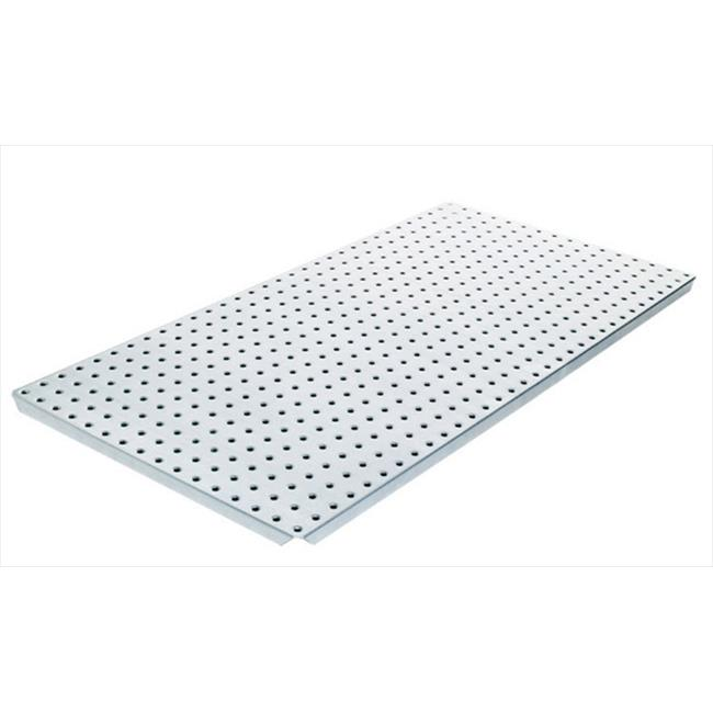 Alligator Board ALGBRD16x32PTD-SLV Silver Powder Coated Metal Pegboard Panels with Flange - Pack of 2