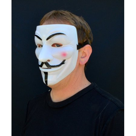 Creepy Scary Halloween Mask Guy Fawkes Costume Plastic Vandetta Anonymous Mask