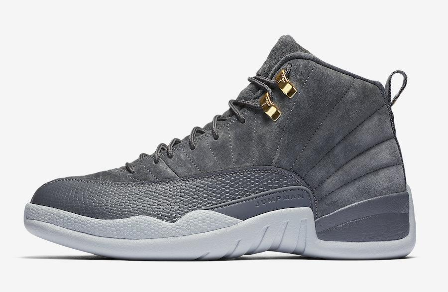 buy popular 9f660 0b908 ... new zealand mens air jordan 12 xii retro dark grey wolf grey 130690 005  fc3ab 0a810