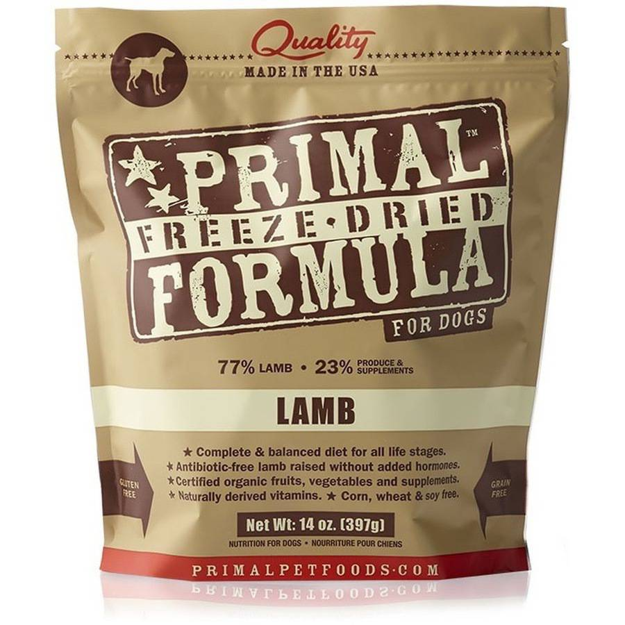 Primal Freeze Dried Lamb Dog Food, 14 oz