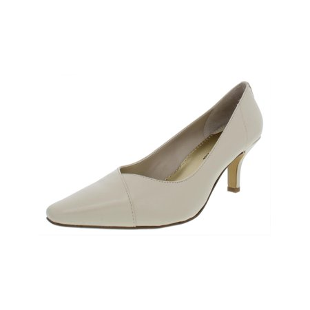 Bella Vita Womens Wow Leather Metallic Pumps Ivory 10 Medium (B,M)