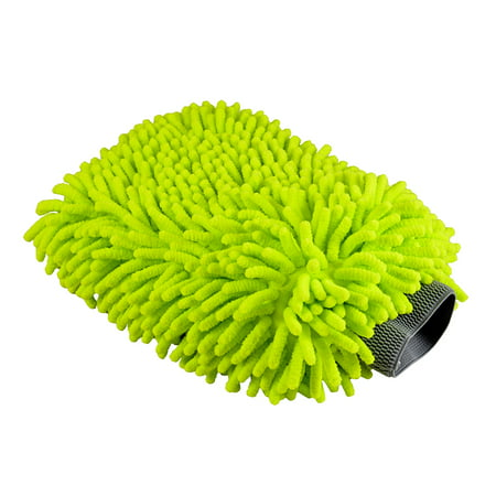 - Chemical Guys MIC_493 Chenille Microfiber Premium Scratch-Free Wash Mitt, Lime Green