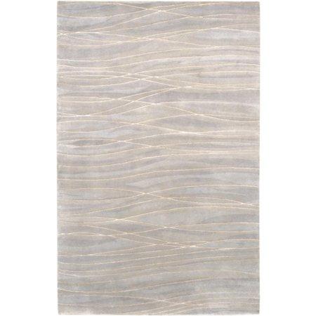 4' x 6' Classic Stratum Cobblestone Gray Wool Area Throw (Stratum One Light)