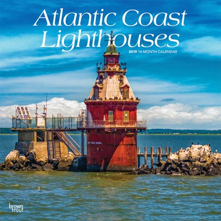 East Coast Lighthouses - Atlantic Coast Lighthouses 2019 12 x 12 Inch Monthly Square Wall Calendar, USA United States of America Scenic Nature Ocean Sea East