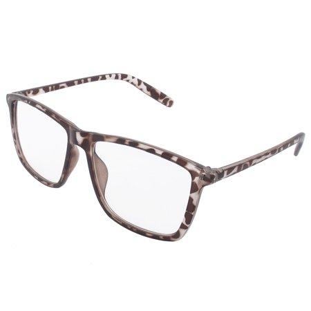 Brown Plastic Leopard Pattern Frame Full Rims Clear Lens Glasses (Leopard Frame Glasses)