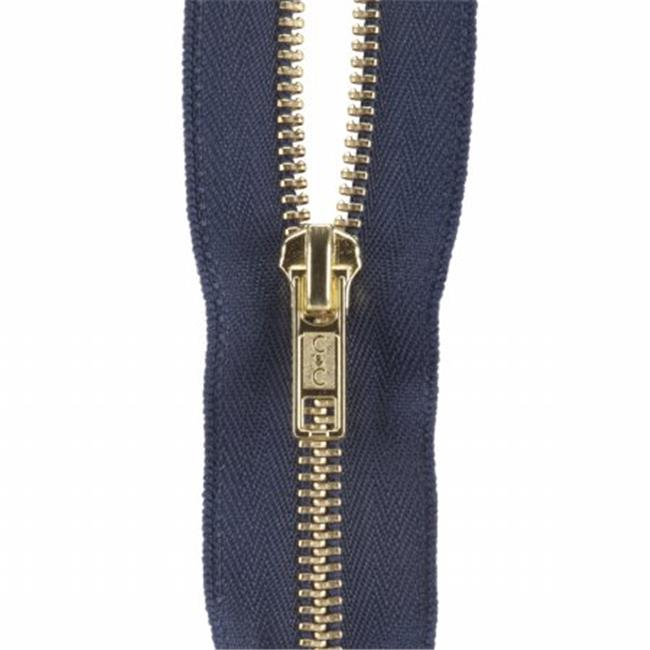 Coats - Thread & Zippers 31927 Heavyweight Brass Separating Metal Zipper 24 in. -Navy