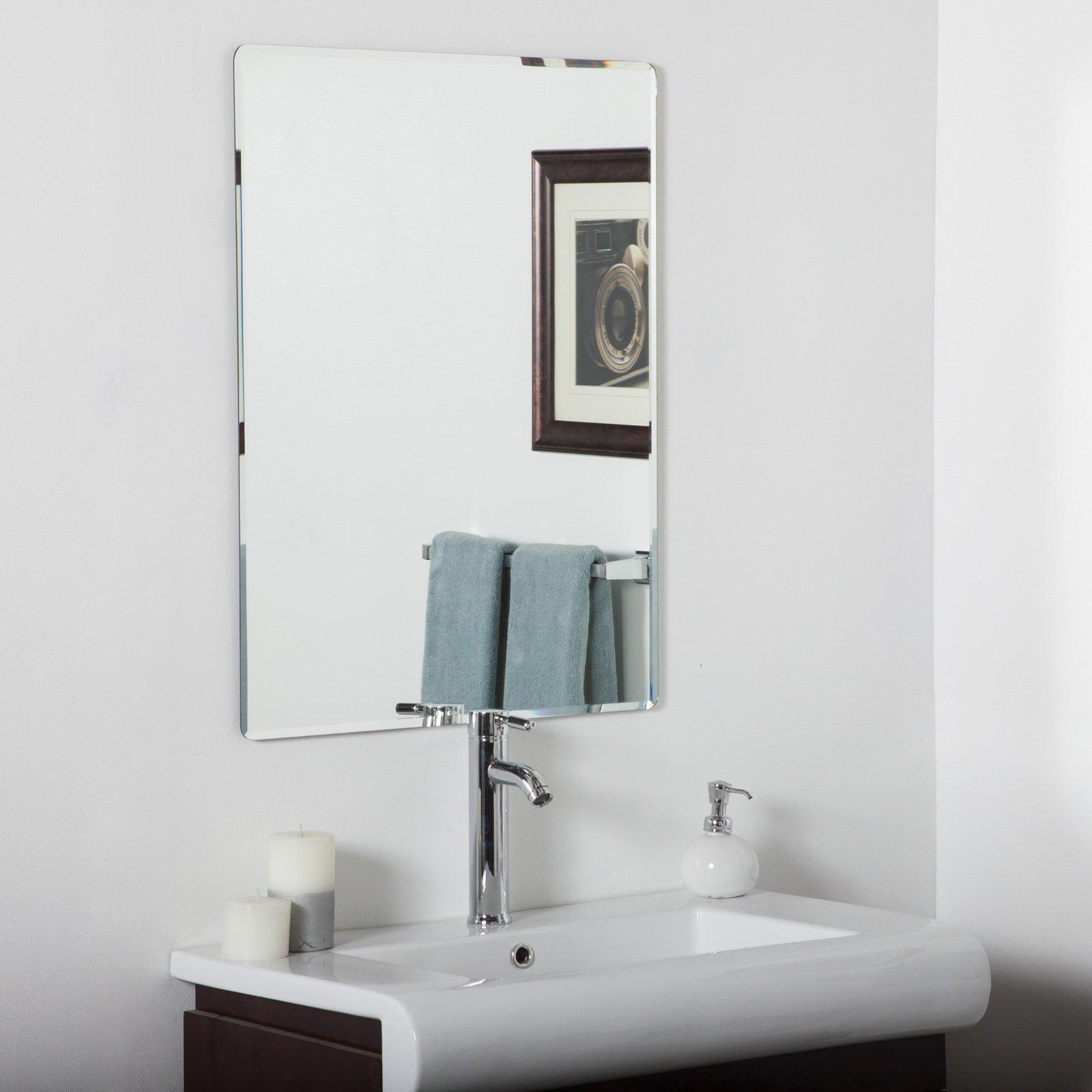 Décor Wonderland Vera Frameless Bathroom Wall Mirror 24W x 32H in. by Decor Wonderland of US