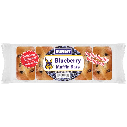 Bunny Blueberry Muffin Bars, 10 oz