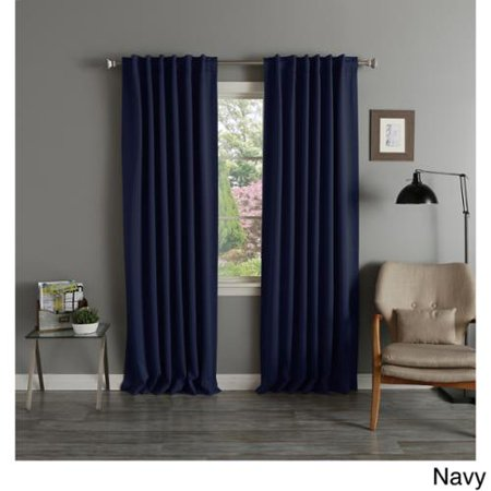 Aurora Home Thermal Rod Pocket 96 Inch Blackout Curtain Panel Pair