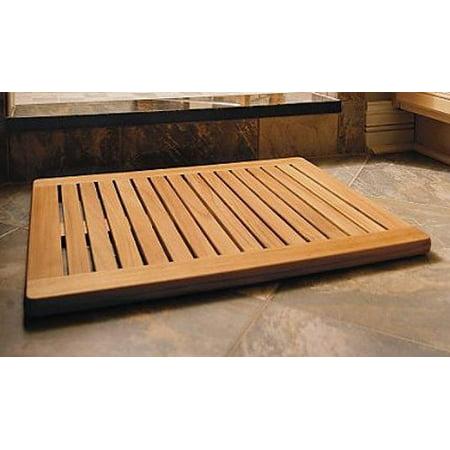 "WholesaleTeak Grade A Teak Wood Large 30""x24"" Door / Shower/ Spa / Bath Floor Mat #WMAXLFM"