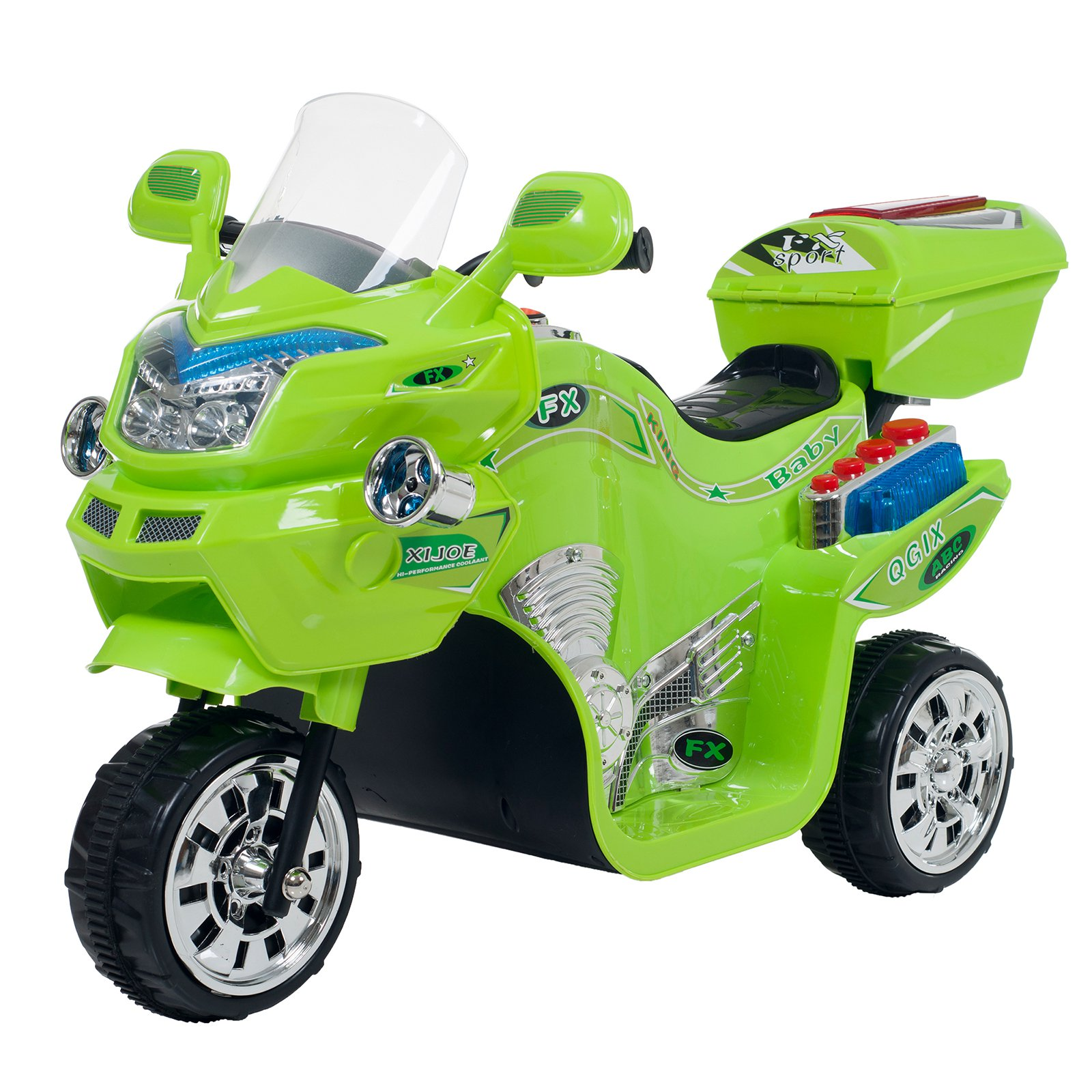 Recaro Lil' Rider 3 Wheel Battery Powered Motorcycle 80-109 Color: Green