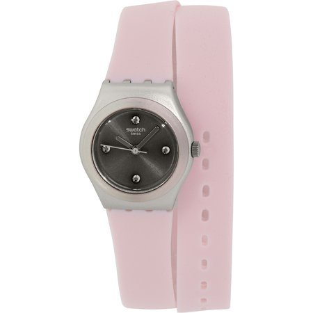Swatch Women's Irony YSS1009 Pink Silicone Swiss Quartz Fashion Watch
