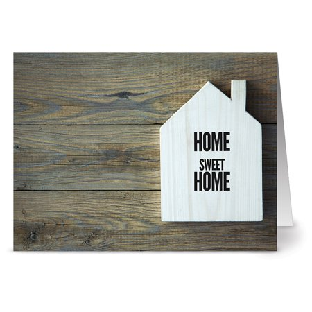 24 Note Cards - Rustic Home Sweet Home - Blank Cards - Kraft Envelopes Included