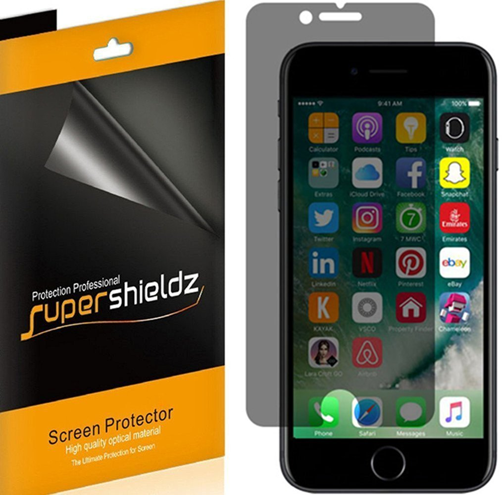 [2 Pack] SUPERSHIELDZ Privacy Anti-Spy Screen Protector Shield For Apple iPhone 7