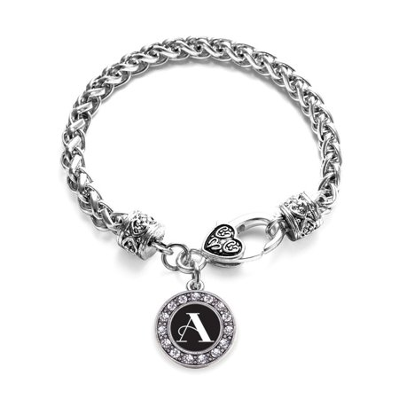 My Vintage Initials - Letter A Circle Charm Braided