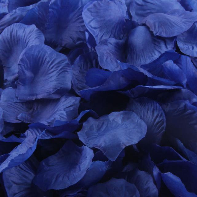 1000pcs Blue Silk Rose Artificial Petals Wedding Party Flower Favors Decor