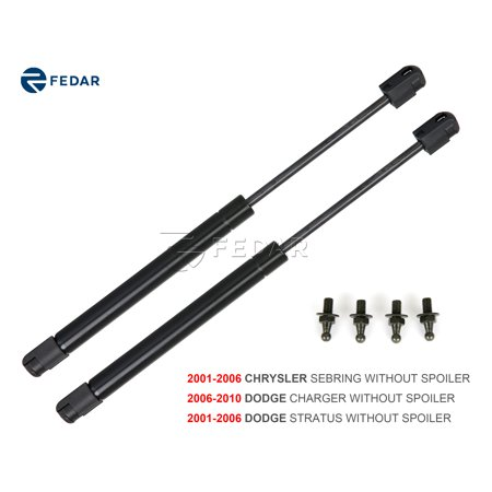 - Fedar Rear Trunk Gas Charged Lift Support For 2001-2006 Chrysler Sebring/Dodge Stratus/2006-2010 Dodge Charger (Set of 2)