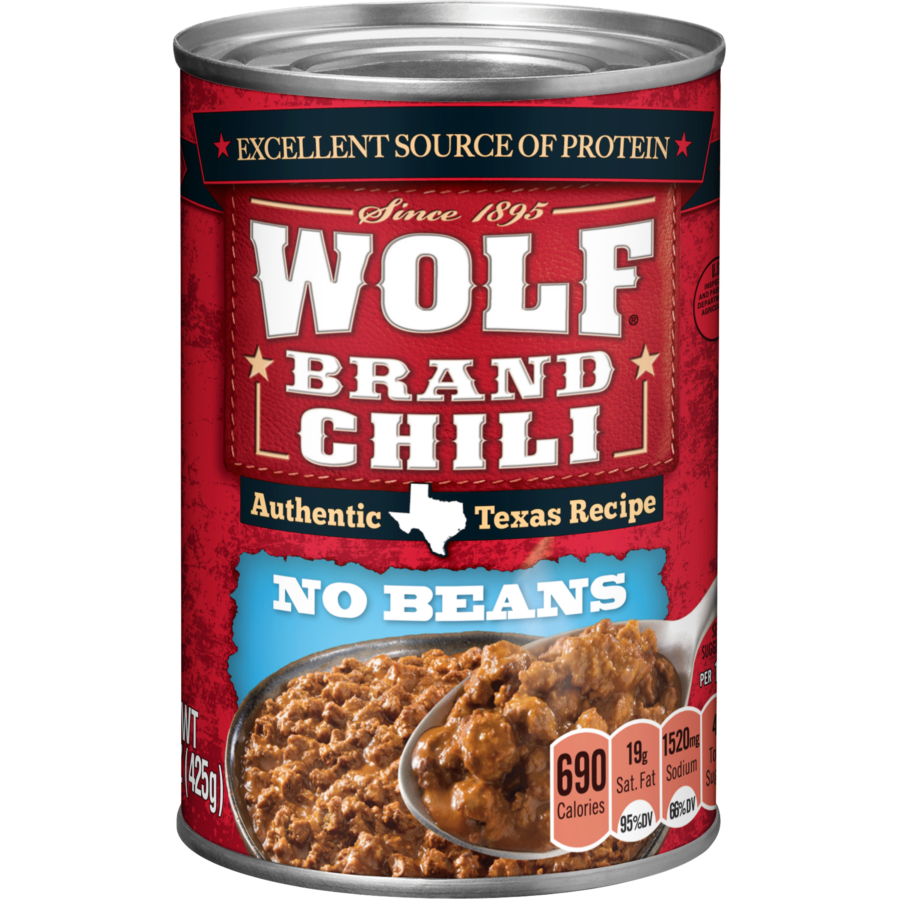 Wolf Brand Chili Without Beans, 15 Ounce