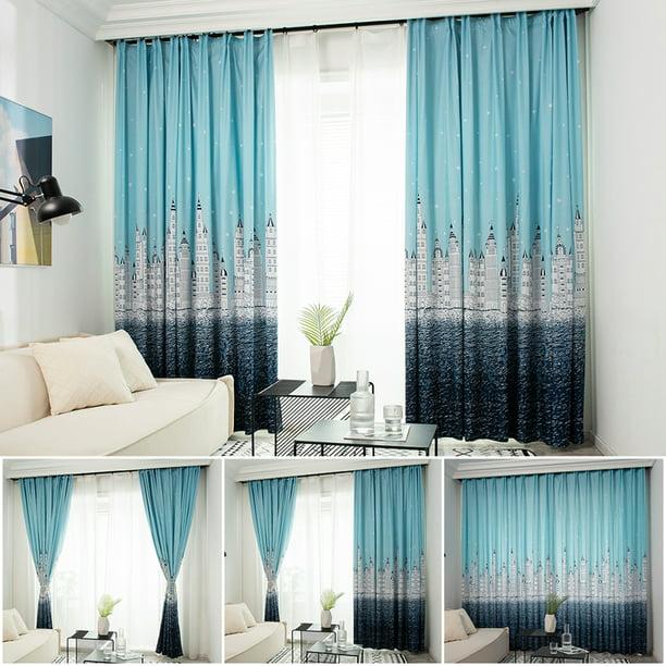 Modern Curtain For Bedroom Window Drapes Treatment Semi Blackout Curtains Us Walmart Com Walmart Com