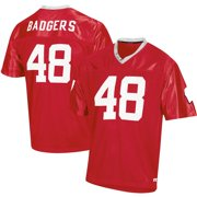 Men's Russell Athletic Red Wisconsin Badgers Replica Football Jersey
