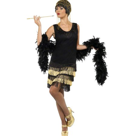 1920s Fringed Flapper Adult Costume](Fantasias Bruxas Halloween)