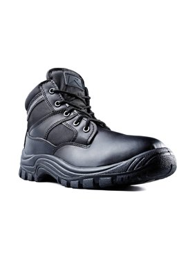 "Ridge Footwear Men's Nighthawk Mid Size 6"" Tactical Black Leather Boots"