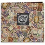 "Travel Post Bound Album 12""X12""-Travel Stickers"