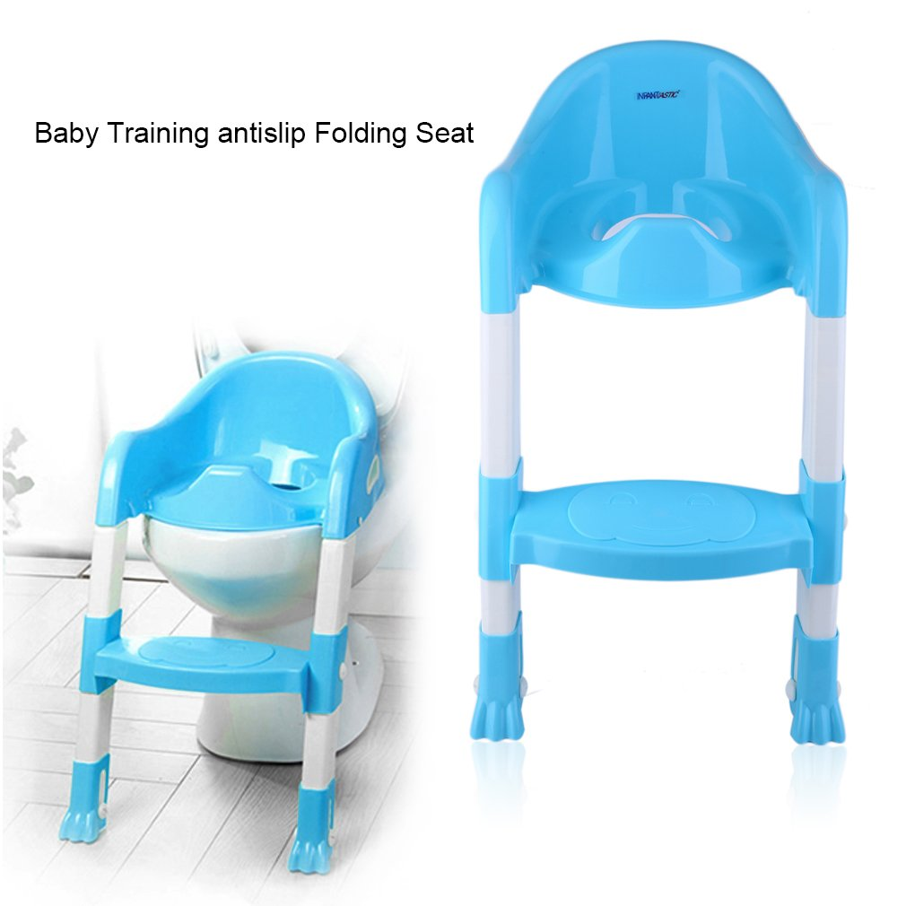 Baby Kids Toddler Potty Training Toilet Trainer Safety Seat Chair Step Ladder by LESHP