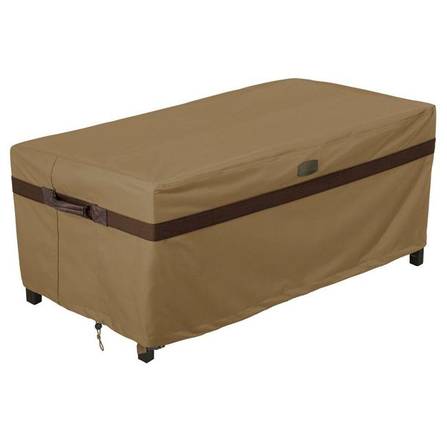 Hickory Patio Ottoman Coffee Table Cover, Rectangle, Tan