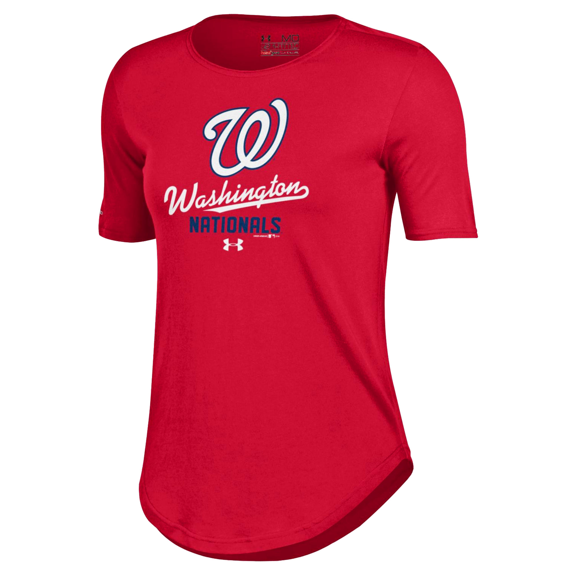 Washington Nationals Under Armour Women's Crew Performance T-Shirt - Red