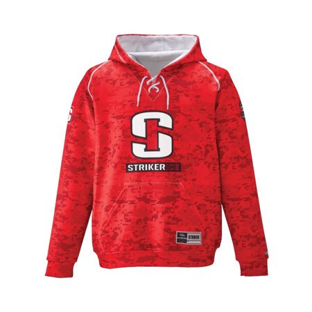 STRIKER ICE Hockey Hoody, Color: Camo Red, Size: L (916214)