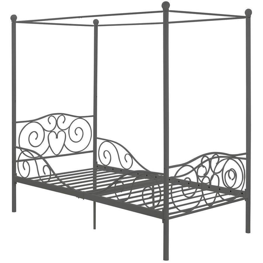 canopy twin metal bed, multiple colors - walmart