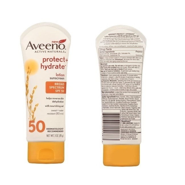Aveeno  SPF 50 Natural Protection 3-ounce Sunscreen Lotion